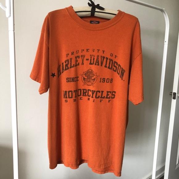 Harley-Davidson motorcycles orange 🍊 biker tee L